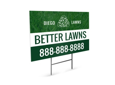 Better Lawn Care Yard Sign Template preview