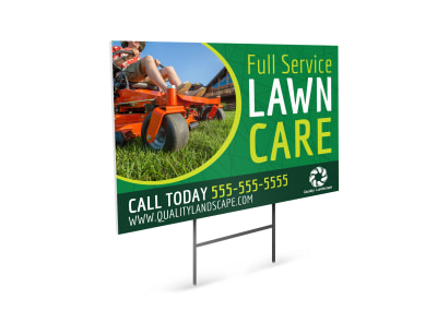 Service Lawn Care Yard Sign Template preview