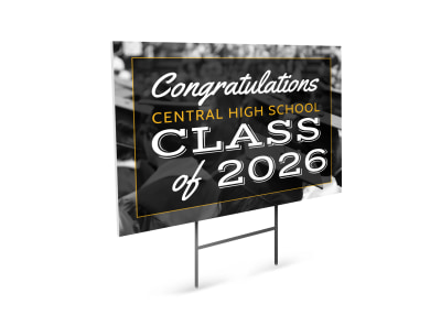 High School Graduation Yard Sign Template