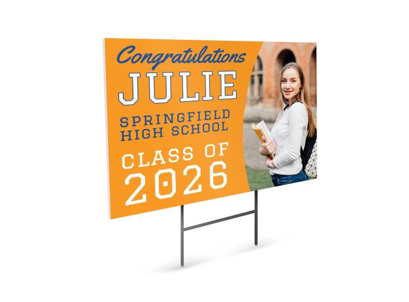 High School Class Graduation Yard Sign Template