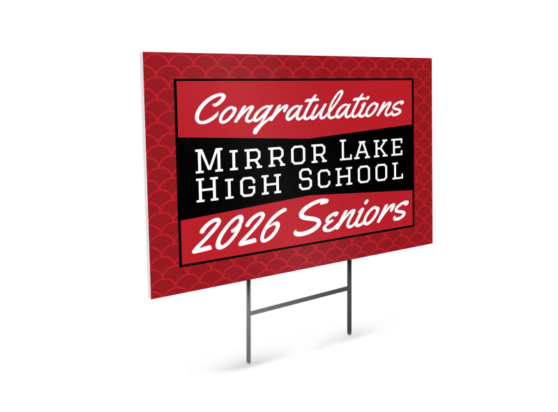 Senior Graduation Yard Sign Template