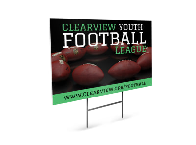 Youth Football Yard Sign Template preview