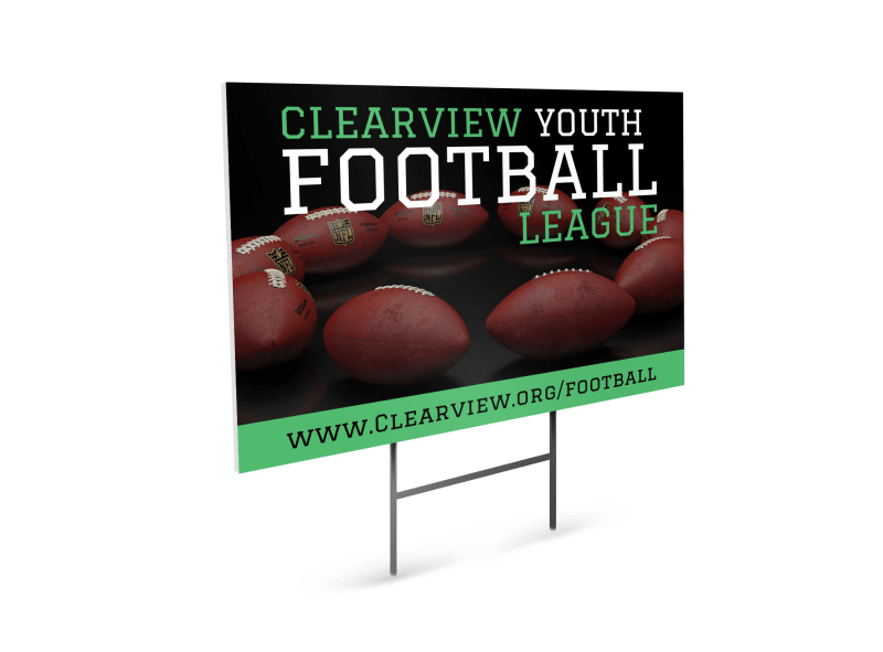 Youth Football Yard Sign Template Preview 1