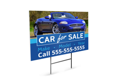 Car Sale Yard Sign Template preview