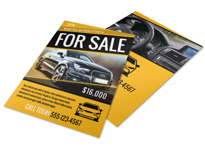 Car For Sale Flyer Template preview