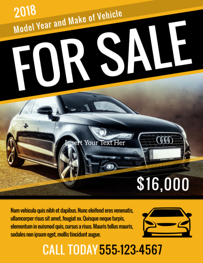 Car For Sale Flyer Template Preview 1