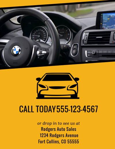 Car For Sale Flyer Template Preview 2