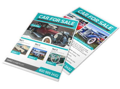 Classic Car For Sale Flyer Template preview