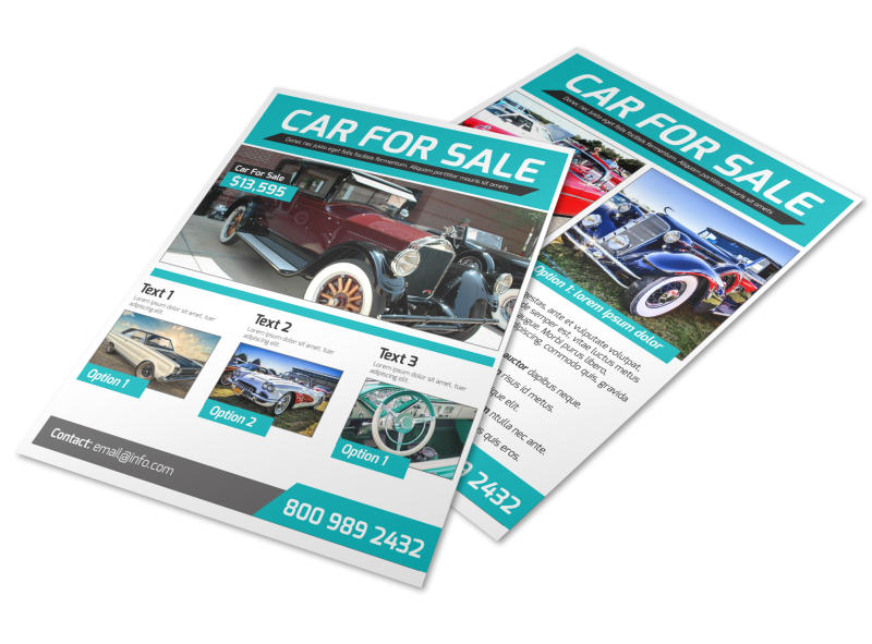 Classic Car For Sale Flyer Template Preview 1
