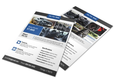 Modern Car For Sale Flyer Template preview