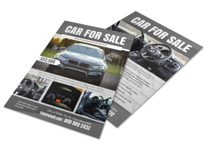Black Car For Sale Flyer Template preview
