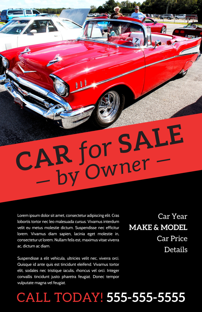 Car For Sale By Owner Poster Template Preview 2