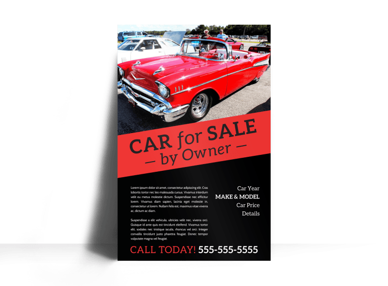 Car For Sale By Owner Poster Template Preview 1