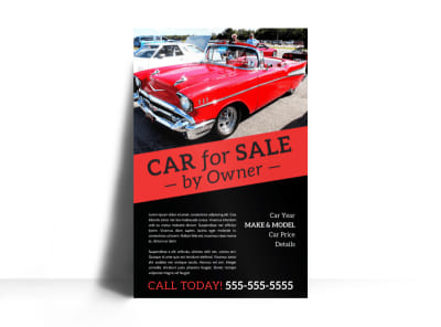 Car For Sale By Owner Poster Template preview