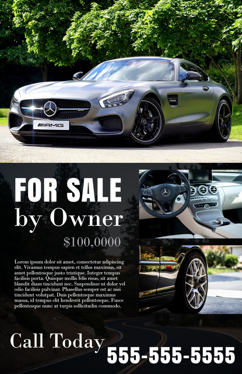 Black Car Sale Poster Template Preview 2