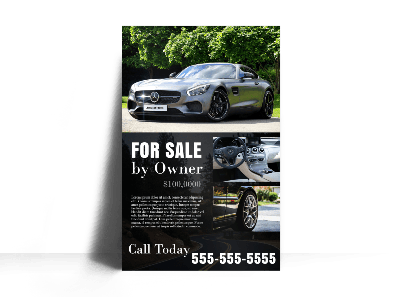 Black Car Sale Poster Template Preview 1