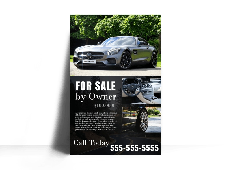 Black Car Sale Poster Template