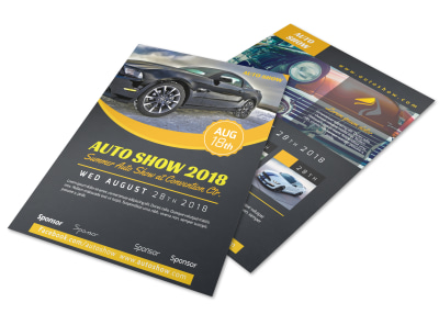 Auto Show Flyer Template preview