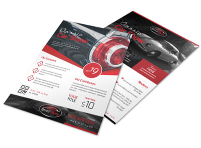 Classic Car Show Flyer Template preview