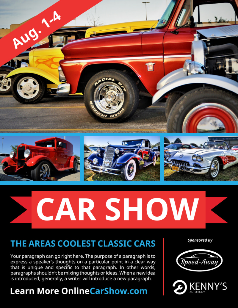 Cool Car Show Flyer Template Preview 2