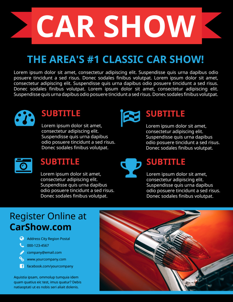Cool Car Show Flyer Template Preview 3