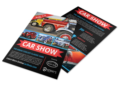 Cool Car Show Flyer Template preview