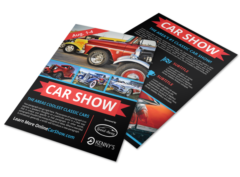 Cool Car Show Flyer Template Preview 1