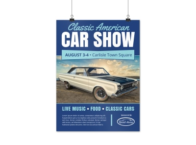 Classic American Car Show Poster Template preview