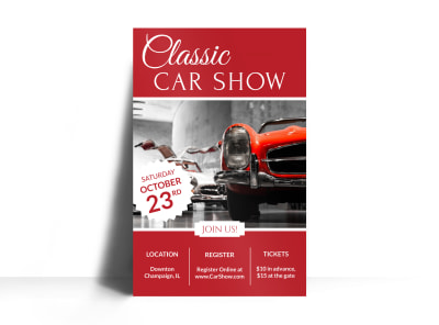 Classic Car Show Poster Template preview