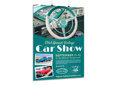 Annual Vintage Car Show Poster Template preview