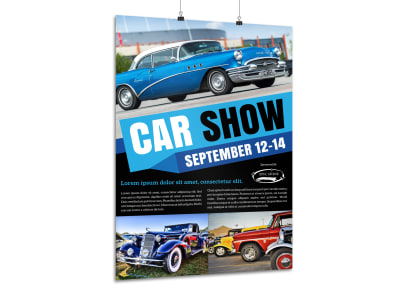 Cool Car Show Poster Template preview
