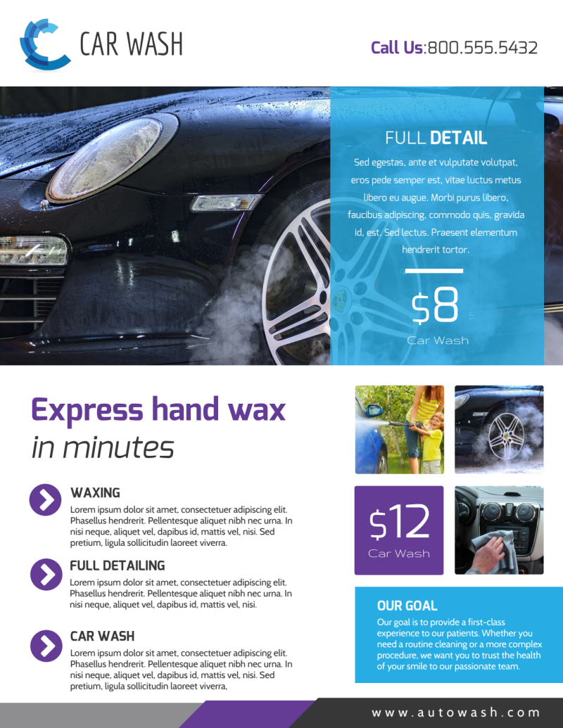 Car Wash Details Flyer Template Preview 2
