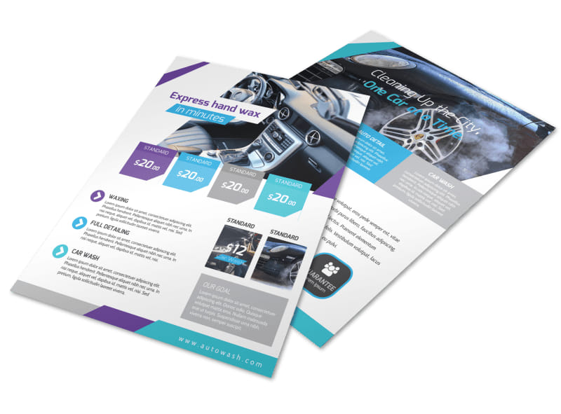 Car Wash Price List Flyer Template Preview 4