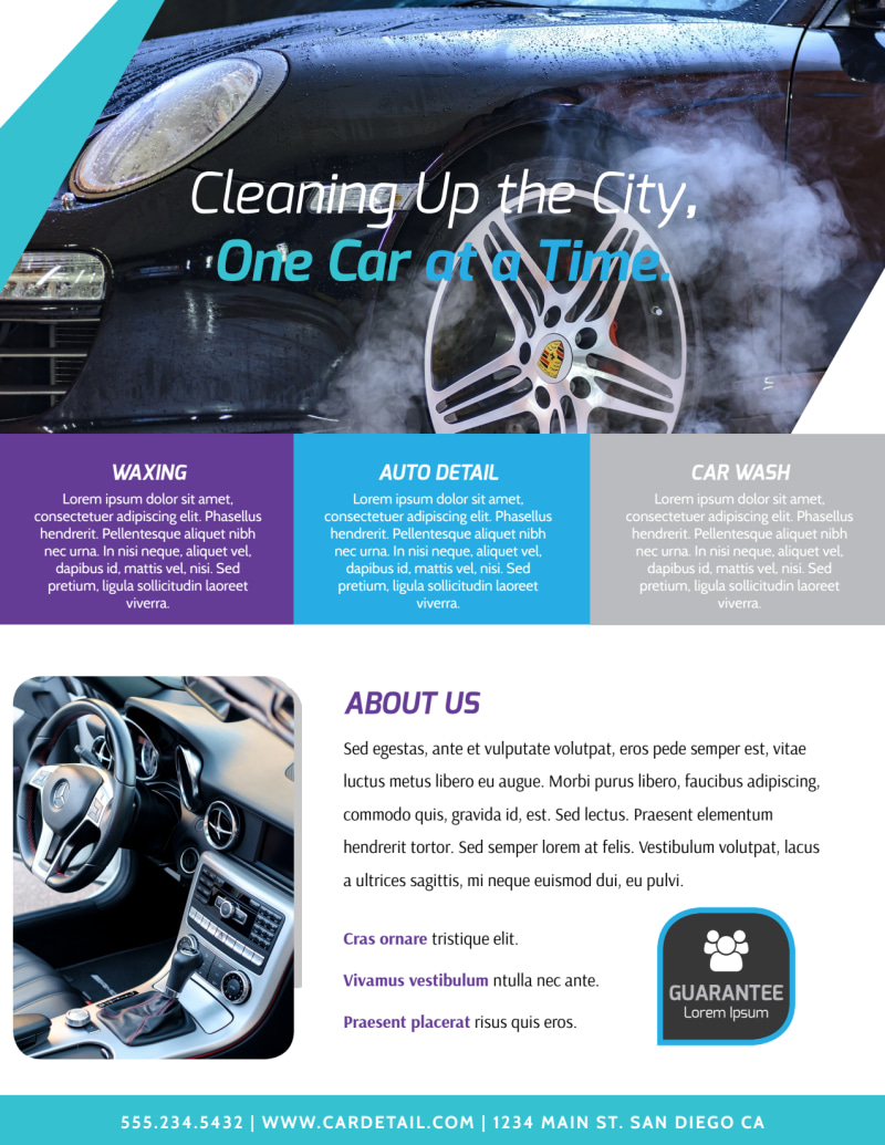 Car Wash Price List Flyer Template Preview 3