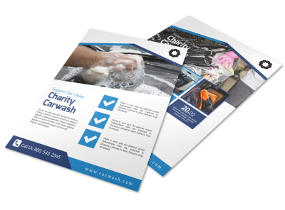 Charity Car Wash Fundraiser Flyer Template preview