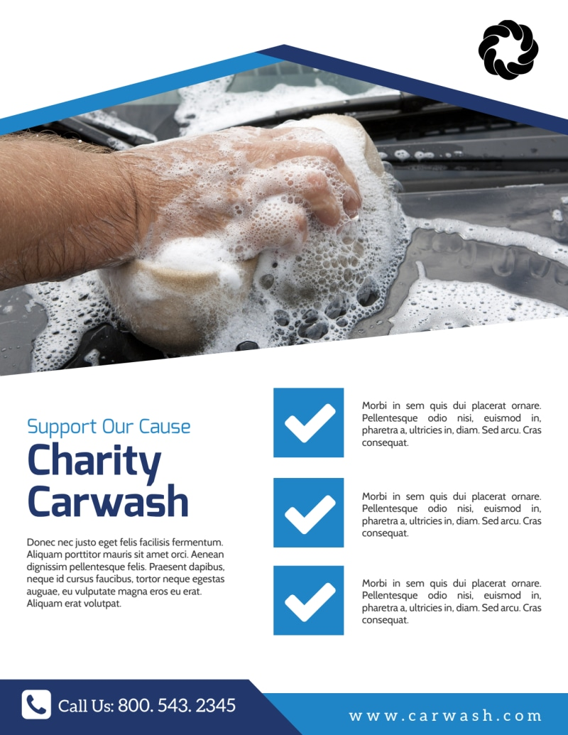 Charity Car Wash Fundraiser Flyer Template Preview 2