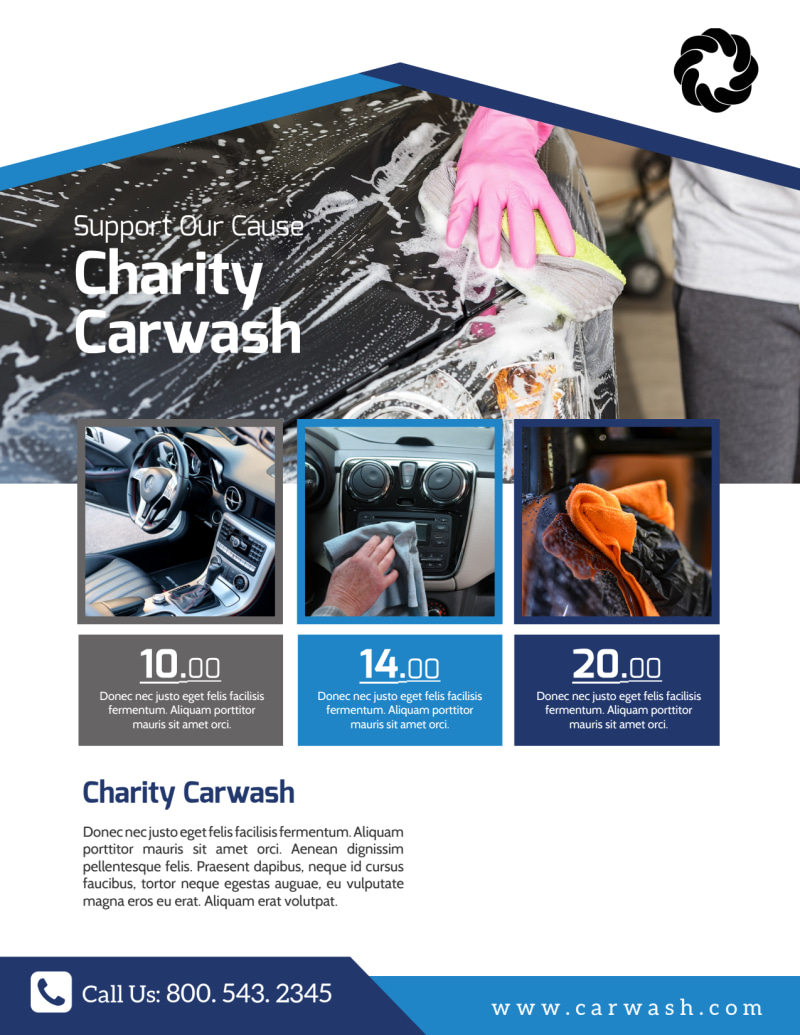 Charity Car Wash Fundraiser Flyer Template Preview 3
