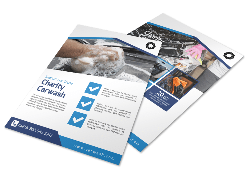 Charity Car Wash Fundraiser Flyer Template Preview 1