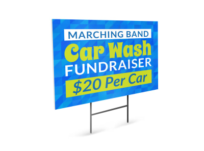 Marching Band Car Wash Yard Sign Template preview