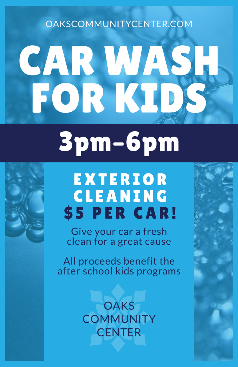 Car Wash For Kids Poster Template Preview 2