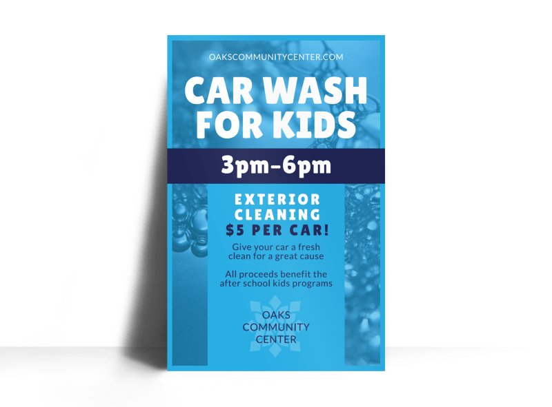 Car Wash For Kids Poster Template Preview 1