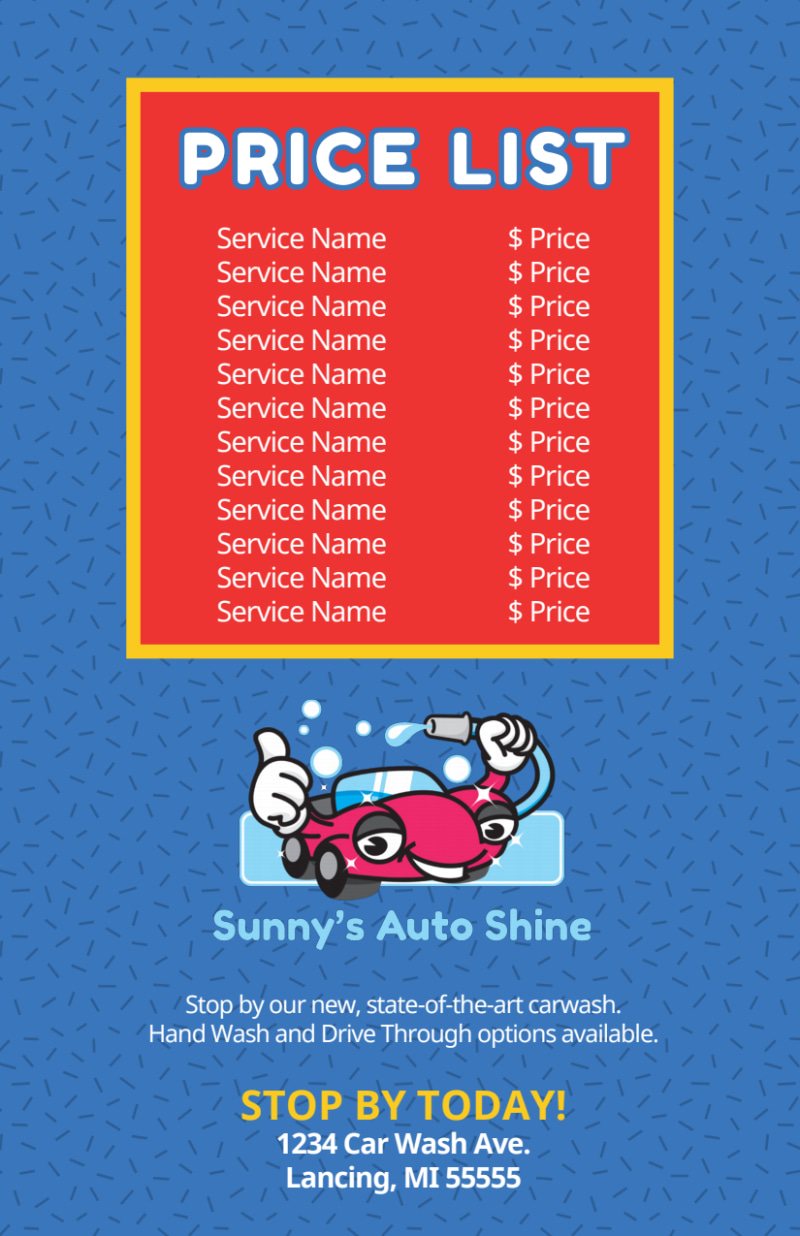 Blue Car Wash Flyer Template Preview 3