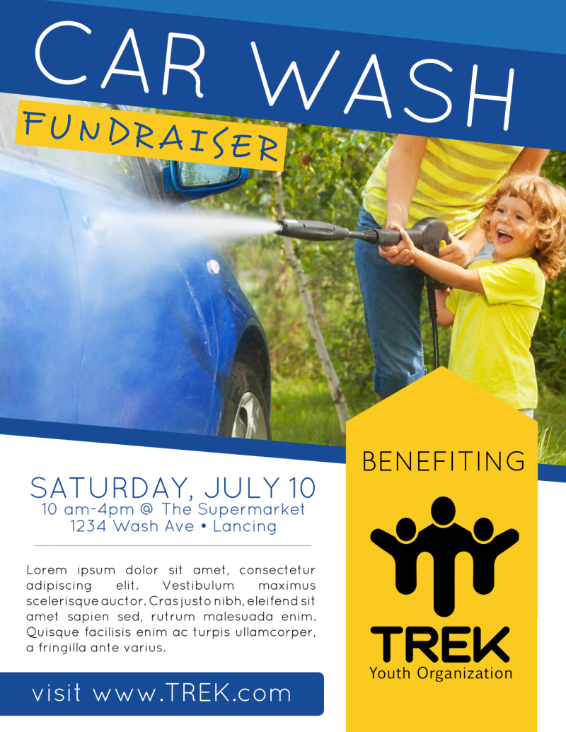 Car Wash Fundraiser Flyer Template Preview 2