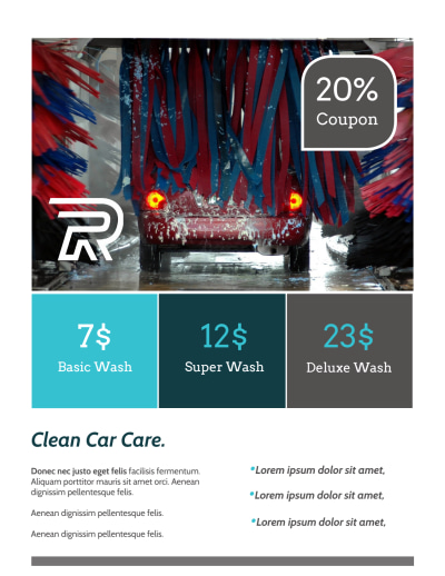 Car Wash Pricing Flyer Template Preview 2