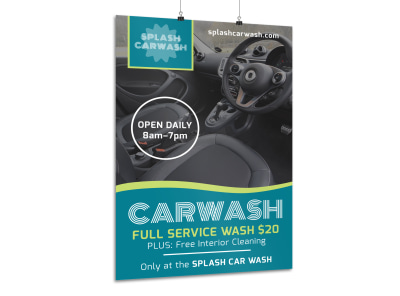 Full Service Car Wash Poster Template
