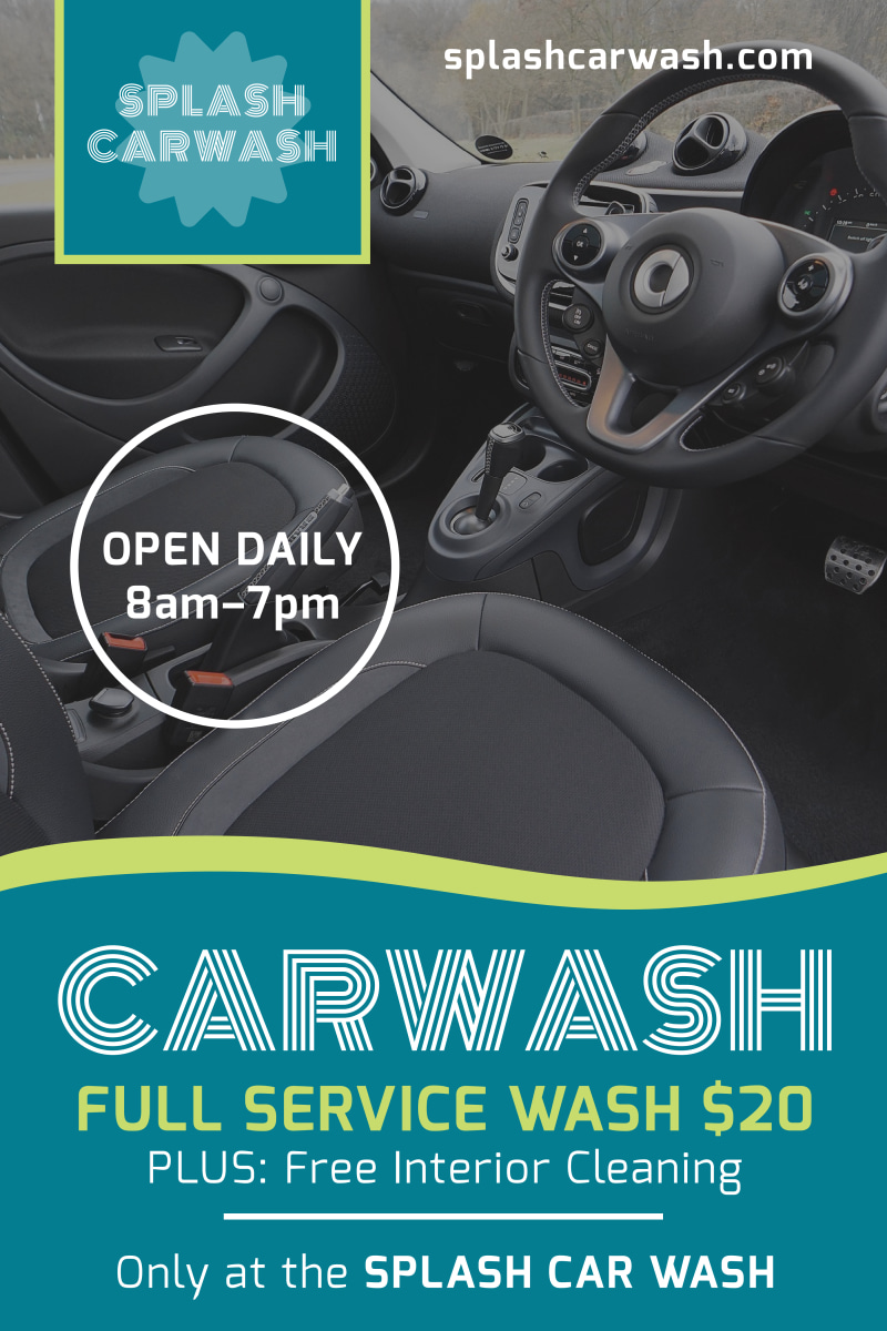 Full Service Car Wash Poster Template Preview 2