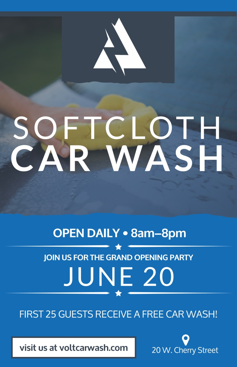 Soft Cloth Car Wash Poster Template Preview 2