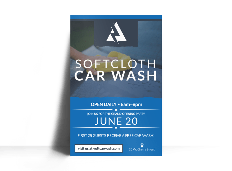 Soft Cloth Car Wash Poster Template Preview 1