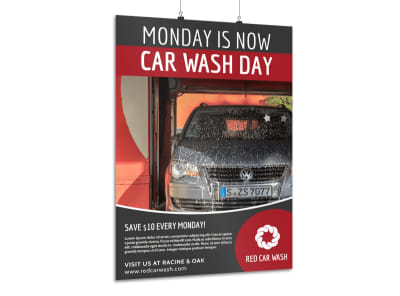 Promotional Car Wash Poster Template preview