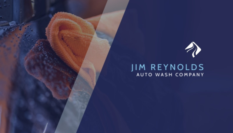 Blue Car Wash Business Card Template Preview 2